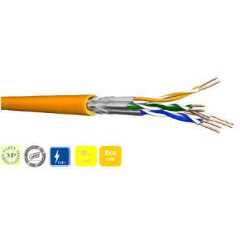 Datenkabel DCA 4x2xAWG23 S-FTP CAT 7 1000 MHz LSZH 1000m Trommel