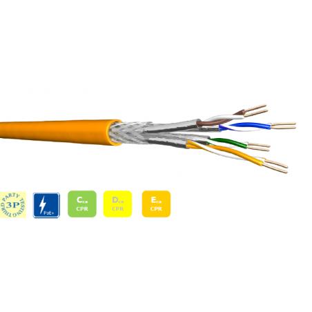 Datenkabel CCA 4x2xAWG23 S-FTP CAT 7 1000 MHz LSZH 1000m Trommel