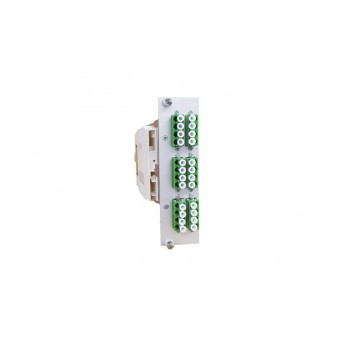 24xLC SM APC (12xLCD) vorkonfektioniert Einschubmodul 3HE/ 7TE