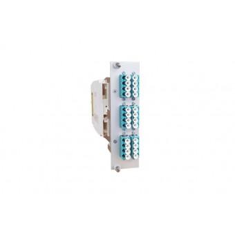 24xLC OM3 (12xLCD) spleissbereit Einschubmodul 3HE/ 7TE