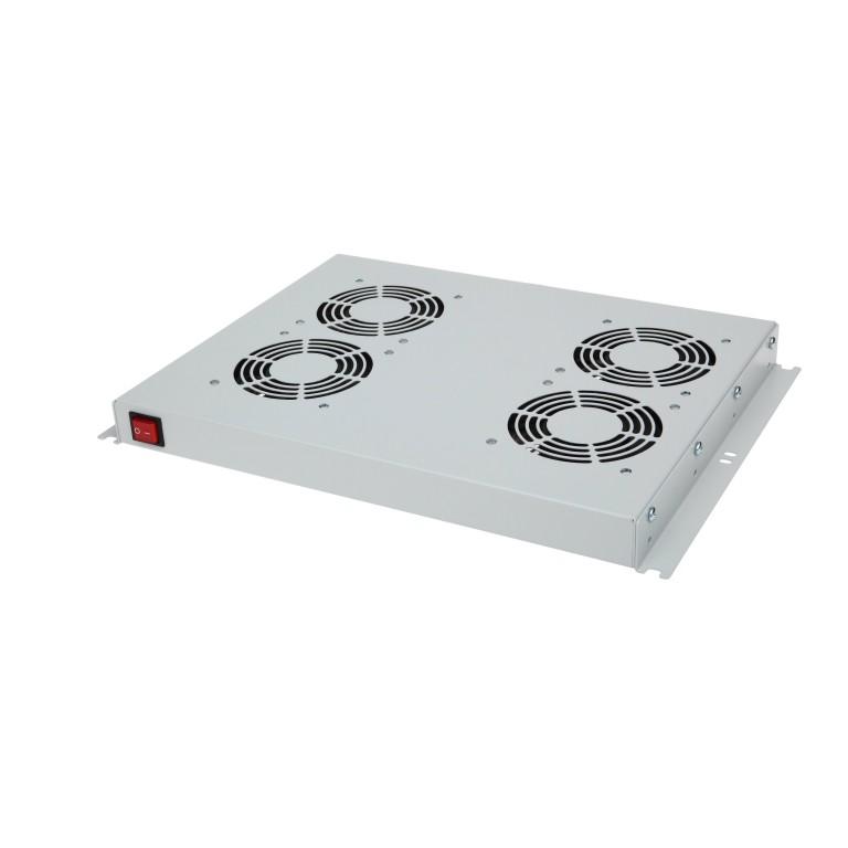"""19"""" -Lüfter 4 - fach für Stand - und Wandschrank 45.5x482x352 mm (HxBxT)"""