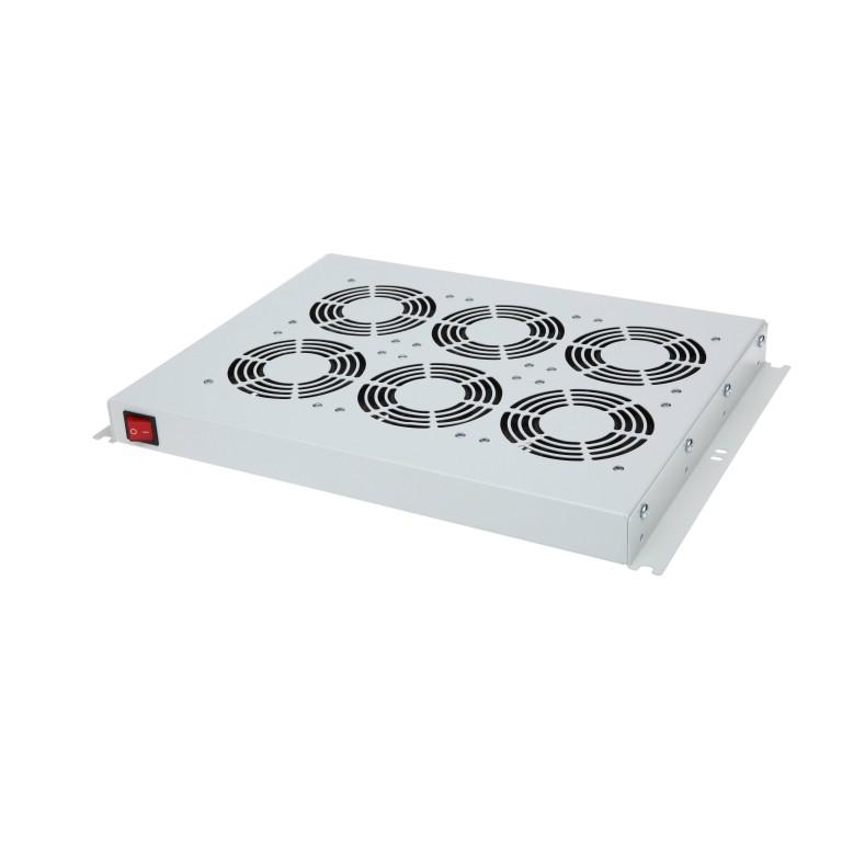"""19"""" -Lüfter 6 - fach für Stand - und Wandschrank 45.5x482x352 mm (HxBxT)"""